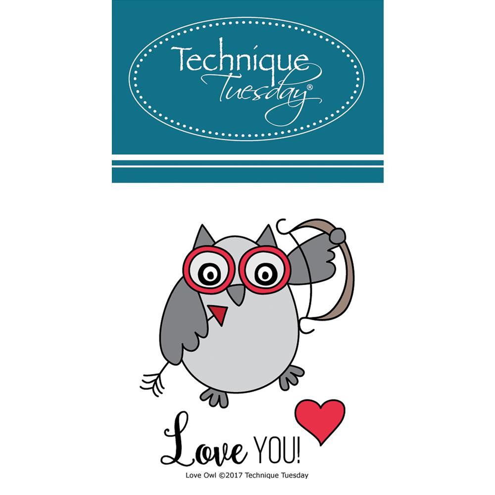 Technique Tuesday Clear Stamps - Love You Owl