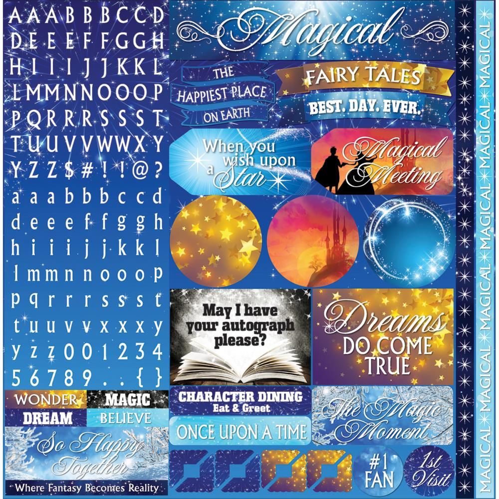 Reminisce 12x12 Cardstock Stickers - Magical Too