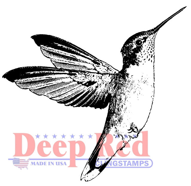 Deep Red Stamp - Hummingbird