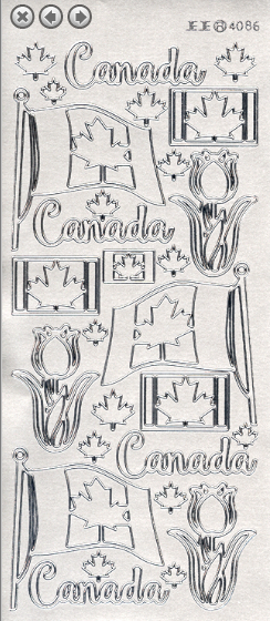 Ecstasy Crafts Inc. - Peel-off Stickers - Canada 150 - Silver