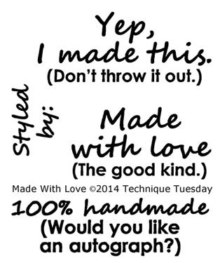 Technique Tuesday Clear Stamps - Made With Love