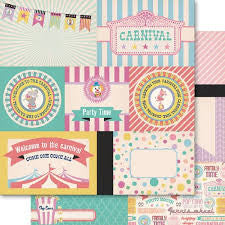 Ruby Rock-it 12x12 Paper - Carnival Queen - Cut Apart - Tokens