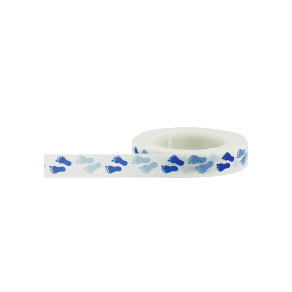 Little B Washi Tape - Baby Feet Blue
