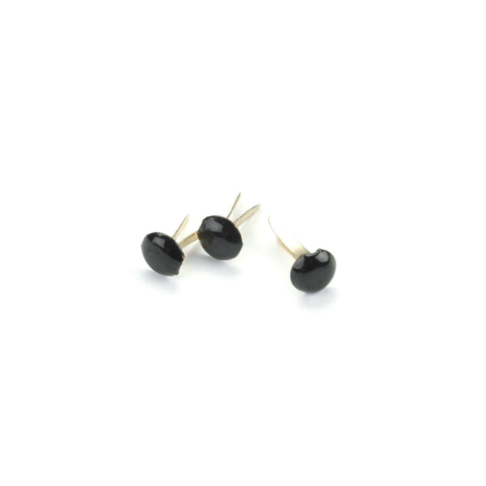 Creative Expression Brads - Black Mini Round 3 mm Brads