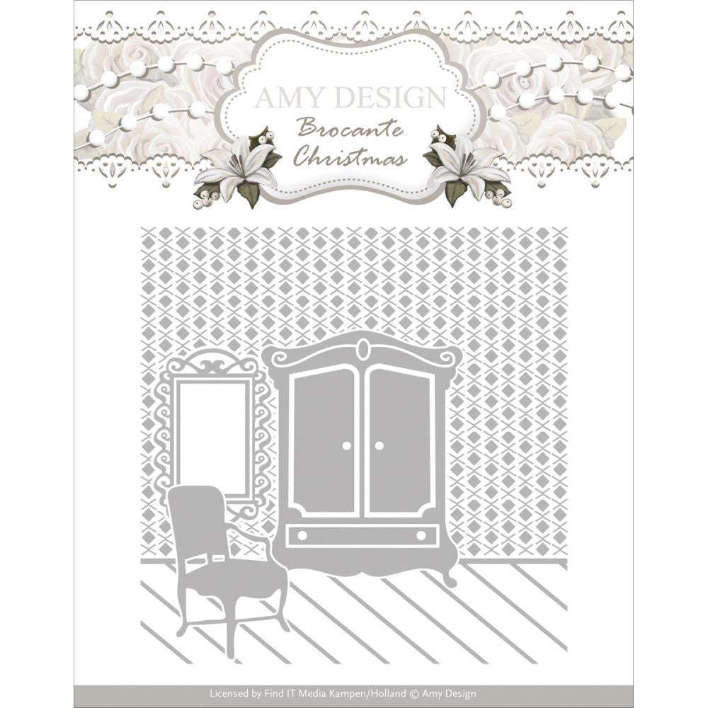 Find It [Amy Design] Embossing Folder - Brocante Christmas