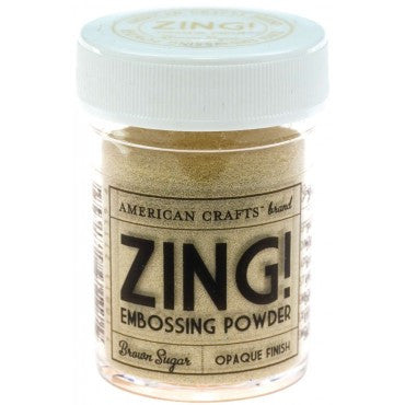 American Crafts Zing Embossing Powder - Brown Sugar