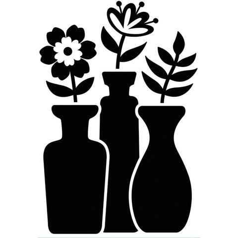 Darice Embossing Folder - Bud Vase Trio