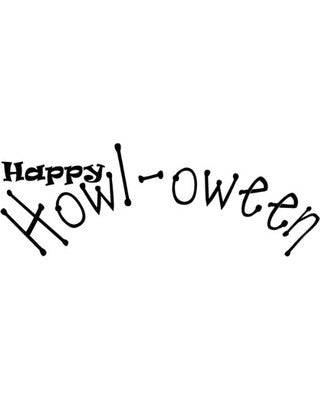 C.C. Designs Stamp - Happy Howl-oween