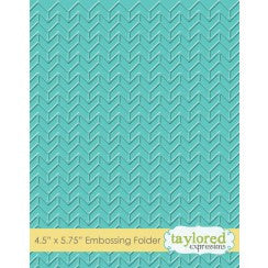 Taylored Expressions Embossing Folder - Chevron