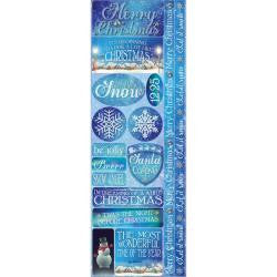 Reminisce 6x12 Cardstock Stickers - Christmas Town