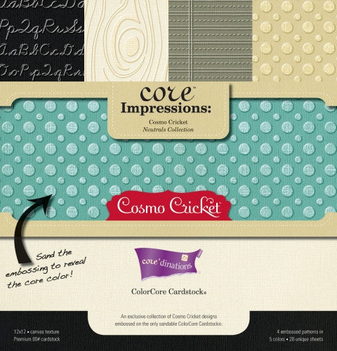 Cosmo Cricket Core'dinations ColorCore Cardstock - Neutrals Collection