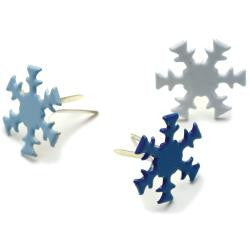 Creative Expression Brads - White, Dark Blue and Light Blue Snowflakes