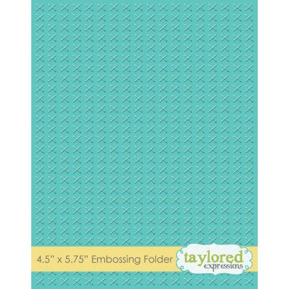 Taylored Expressions Embossing Folder - Cross Stitch