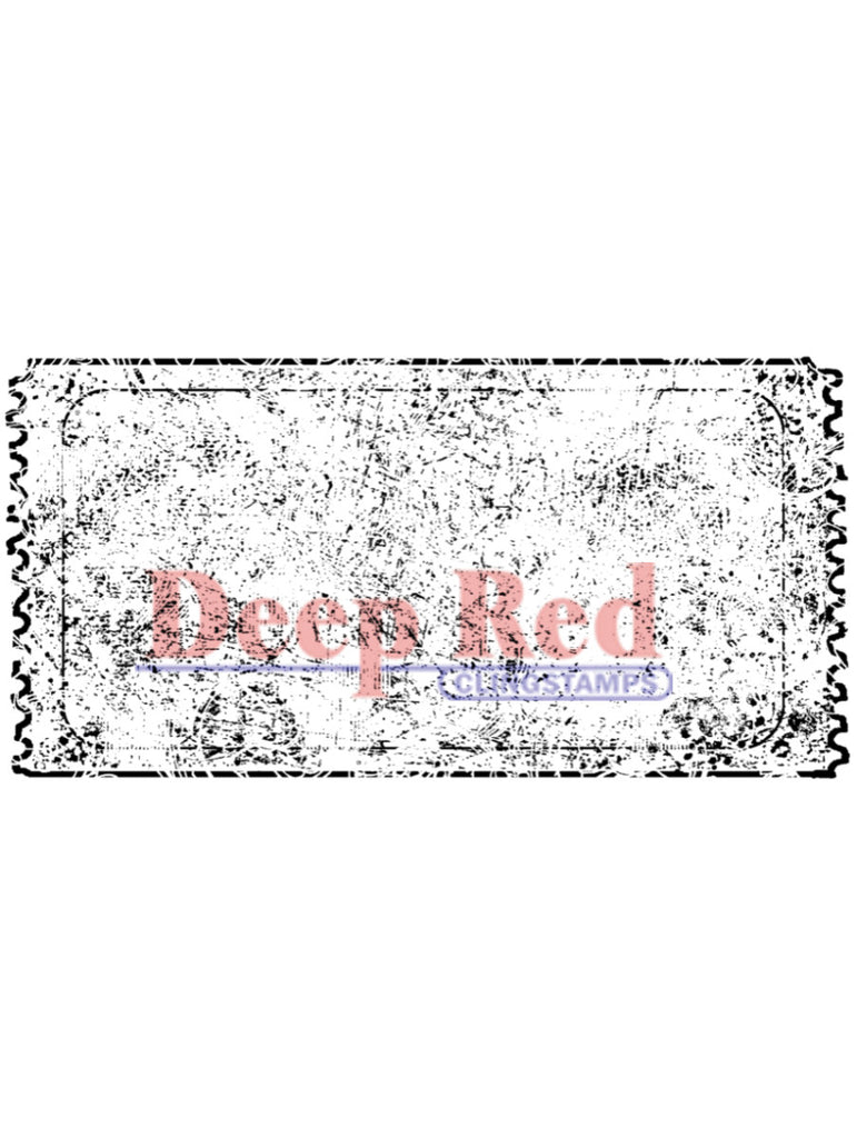 Deep Red Stamp - Grunge Ticket