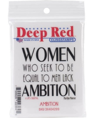 Deep Red Stamp - Ambition