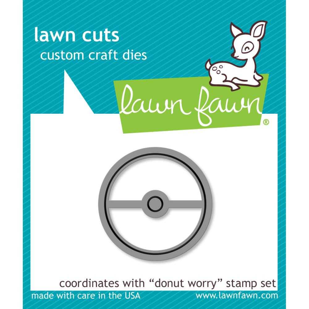Lawn Fawn Die [Stamp & Die - PART] - Donut Worry