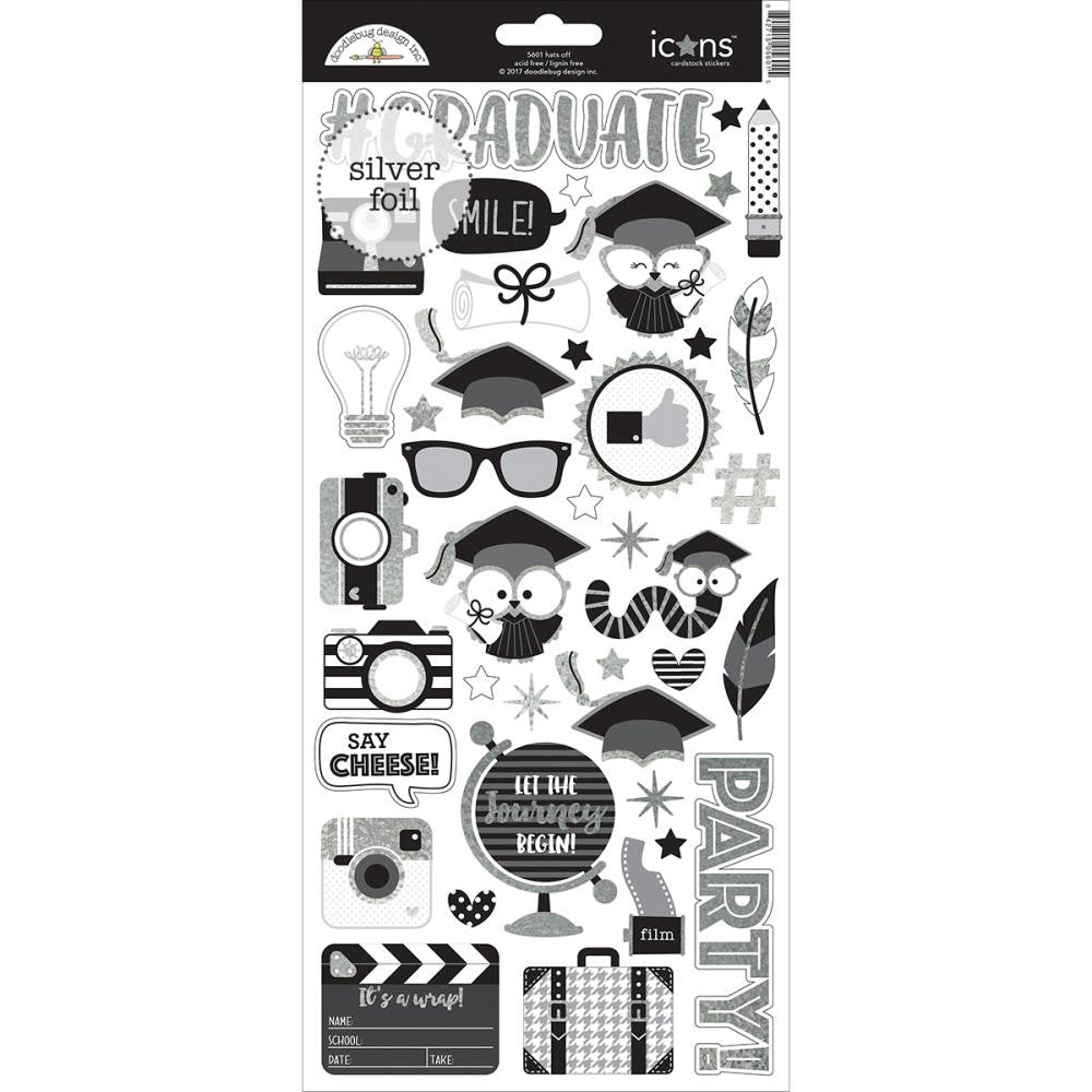 Doodlebug Design  Cardstock  Stickers - Hats Off!
