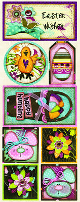 BoBunny Cardstock Stickers - Easter Wishes