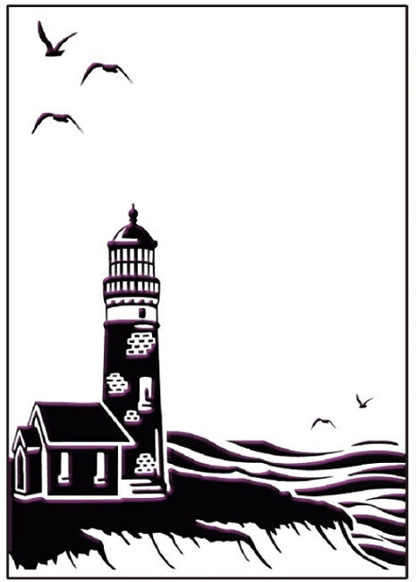 Ecstasy Crafts Embossing Folder - Coastal View