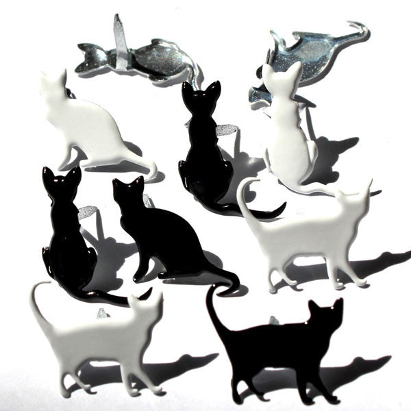 EyeLet OutLet - Silhouette Cat Brads