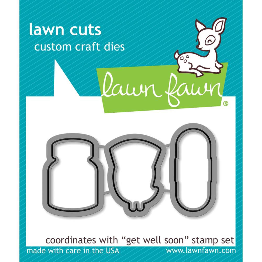 Lawn Fawn Die [Stamp & Die - PART] - Get Well Soon