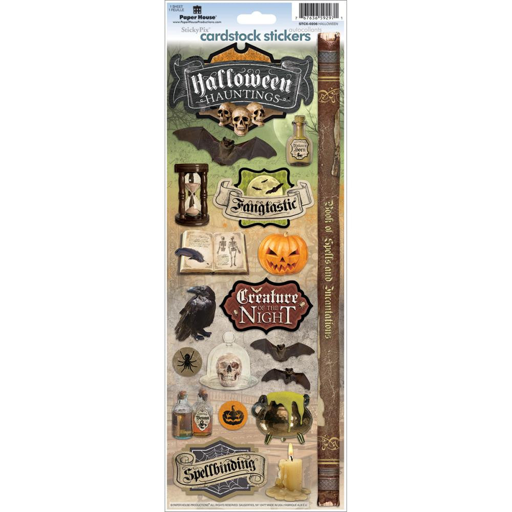 Paper House Cardstock Stickers - Halloween