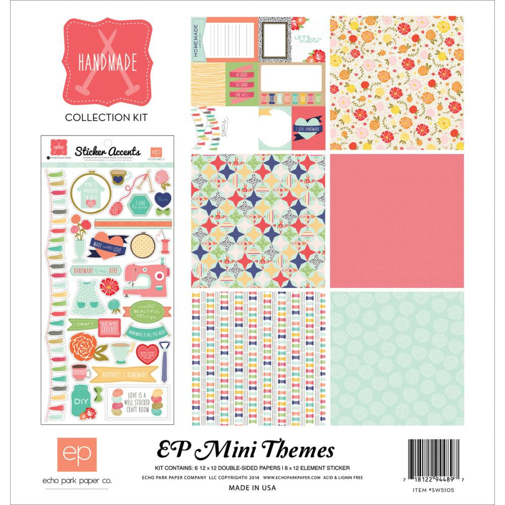 Echo Park Mini Themes Paper Collection Pack - [Collection] - Handmade
