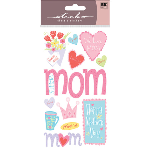 EK Success - Sticko Classic Stickers - Happy Mothers Day