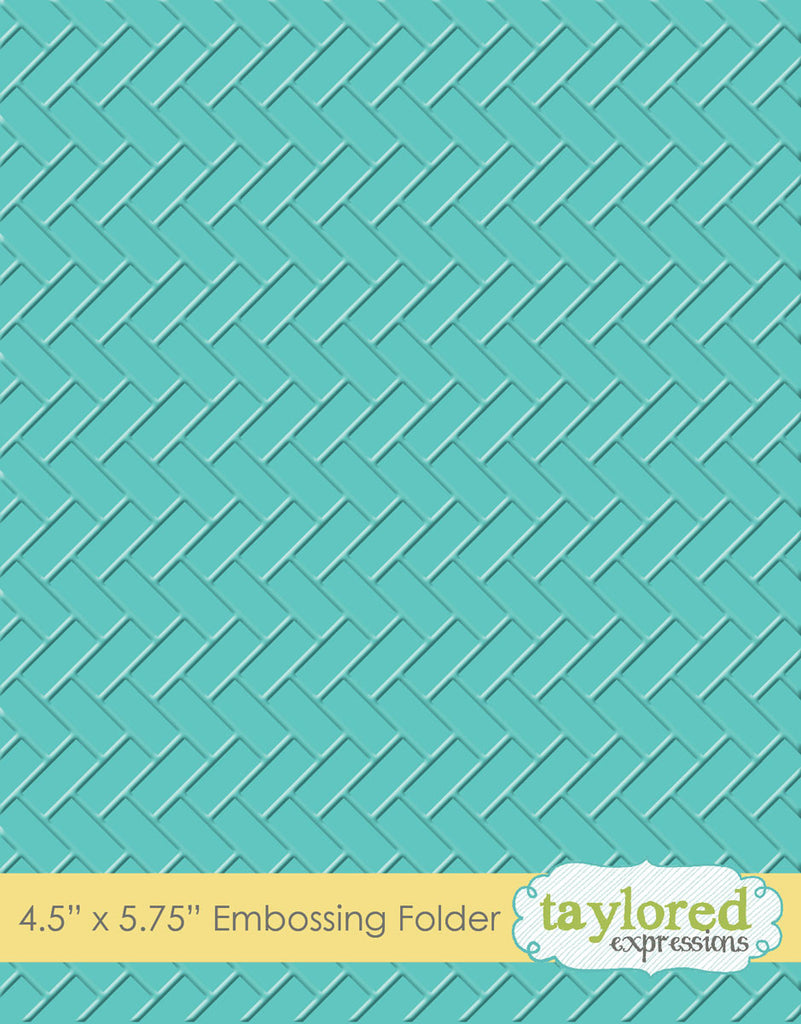Taylored Expressions Embossing Folder - Herringbone