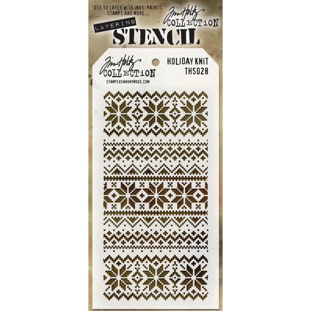 Tim Holtz Layering Stencil - Holiday Knit