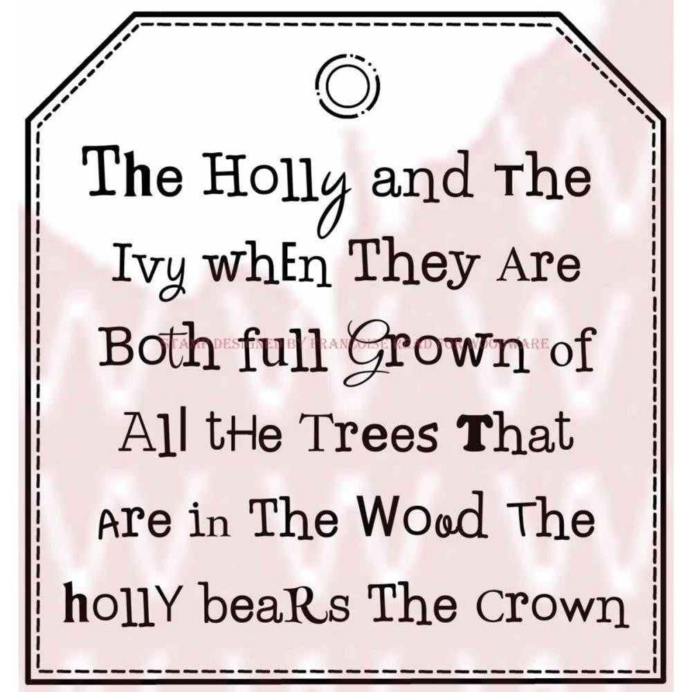 Woodware Stamps - Holly & Ivy Tag