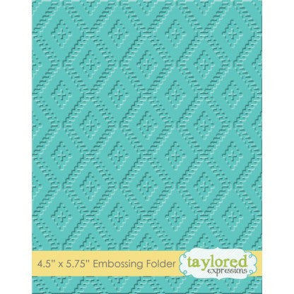 Taylored Expressions Embossing Folder - Ikat