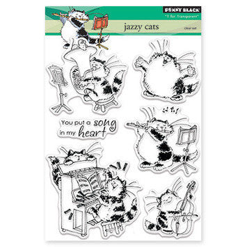 Penny Black Stamps - Jazzy Cats