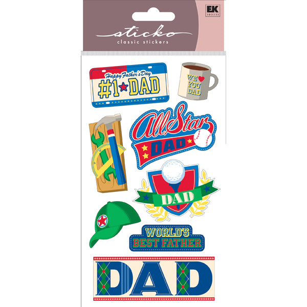 EK Success - Sticko Classic Stickers - I Love You Dad