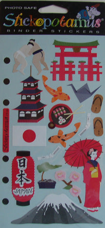 Stickopotamus Binder Stickers - Japan
