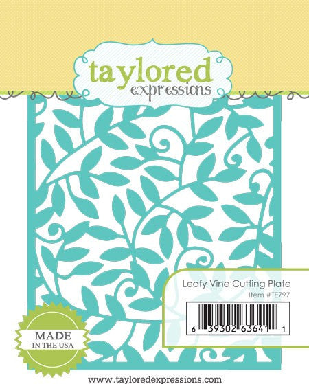 Taylored Expressions Embossing Folder - Leafy Vine