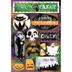 Karen Foster Cardstock Stickers - Let's Trick Or Treat