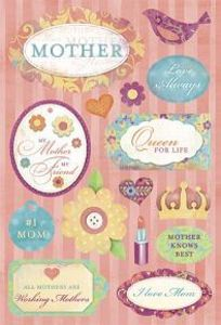 Karen Foster Cardstock Stickers - #1 Mother