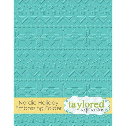 Taylored Expressions Embossing Folder - Nordic Holiday
