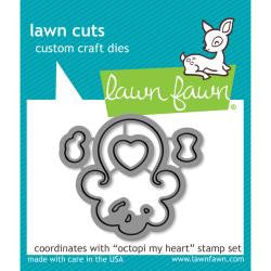 Lawn Fawn Die [Stamp & Die - PART] - Octopi My Heart