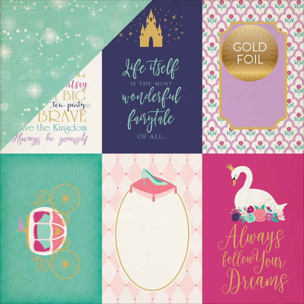 Echo Park Paper Co. Paper 12x12 - [Collection] - Once Upon A Time - Journaling Cards