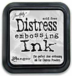 Tim Holtz Distress Ink Pad Full Size - Embossing Ink CLEAR