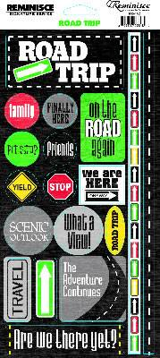 Reminisce Signature Series Stickers [Collection] - Road Trip Phrase