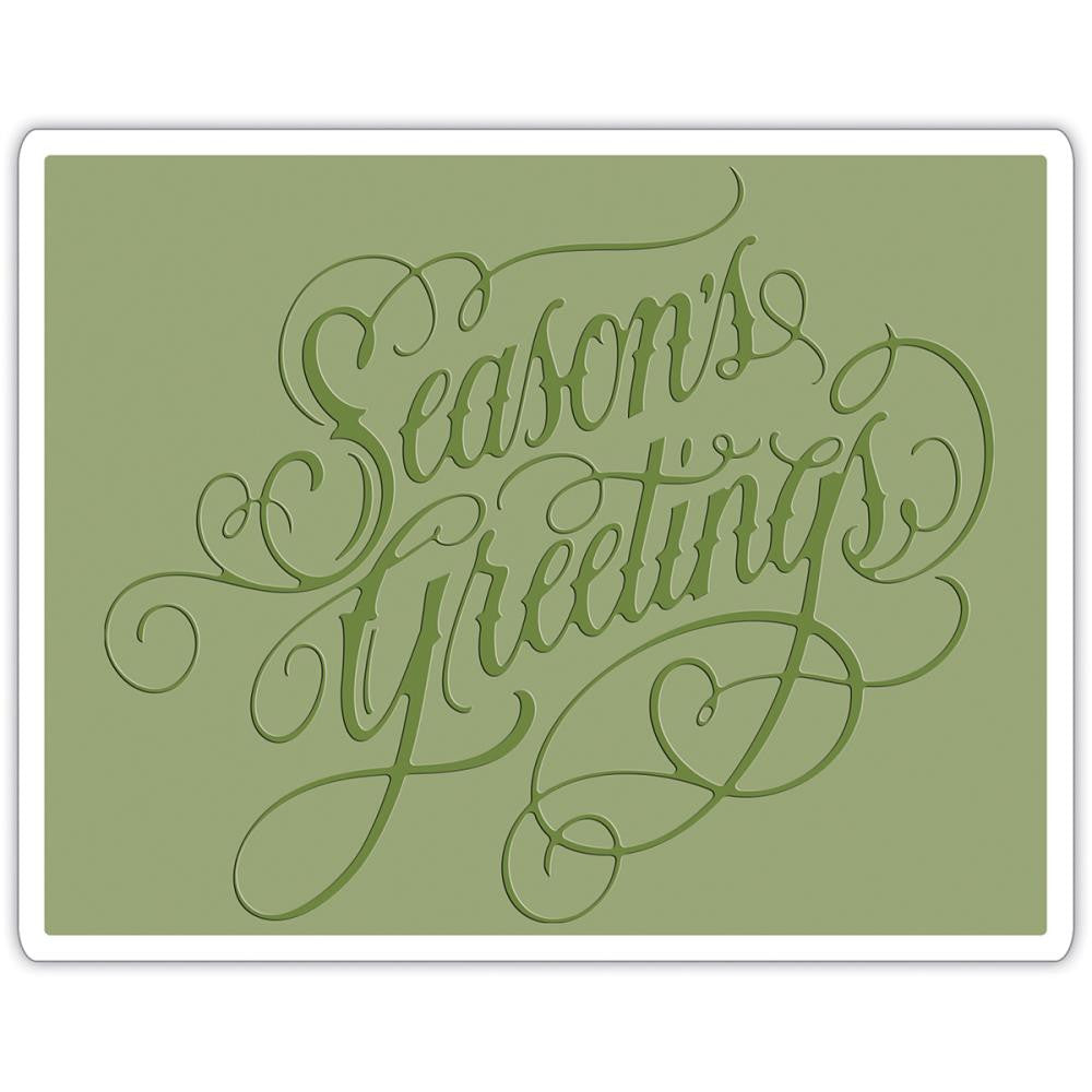 Sizzix Embossing Folders - [Tim Holtz] - Seasons Greeting