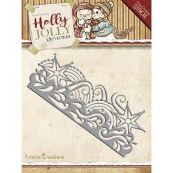 Find It [Yvonne Creations] - Holly Jolly Snowflake Border