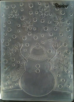 Darice Embossing Folder - Snowman Arms Up