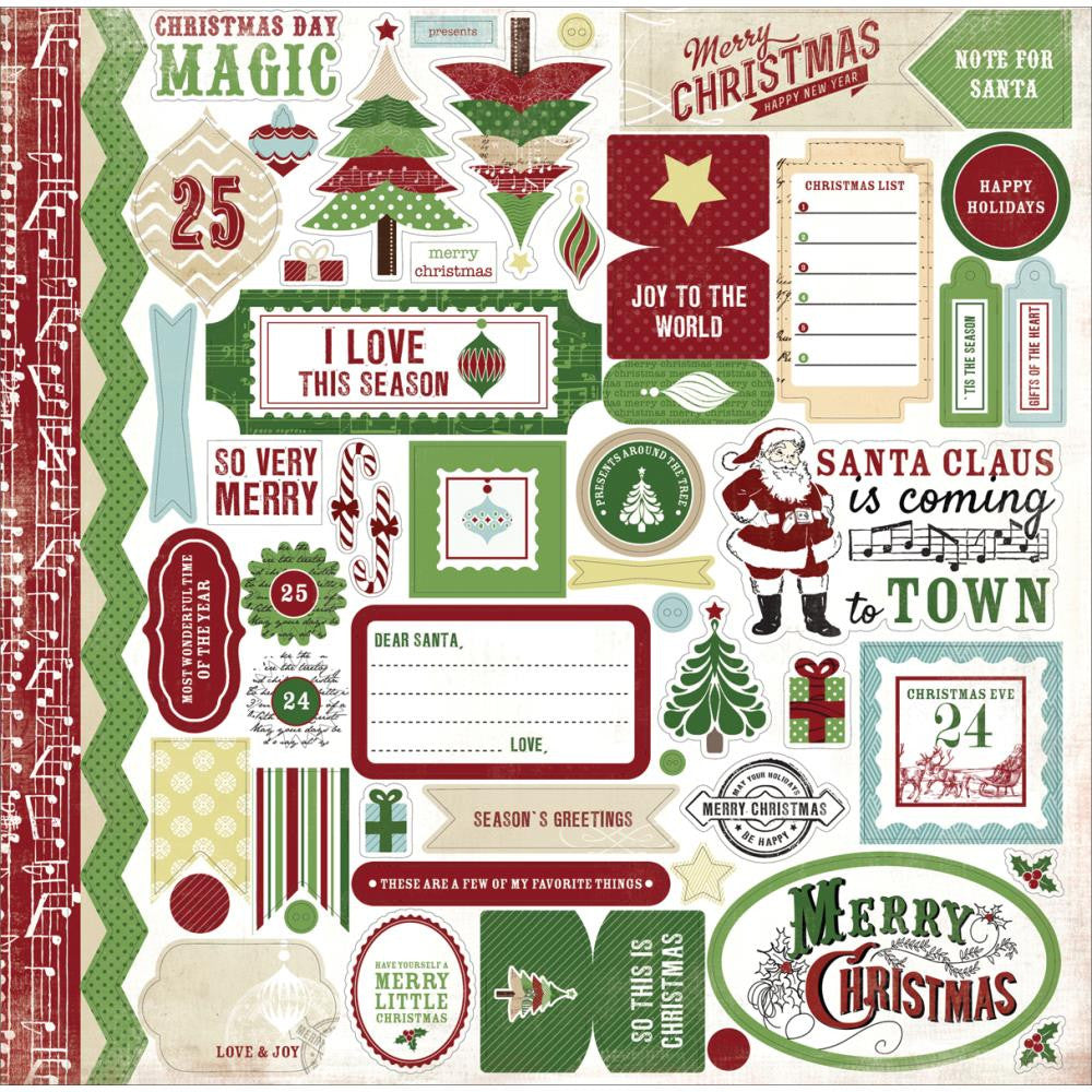 Carta Bella Cardstock Stickers - [Collection] - So This Is Christmas