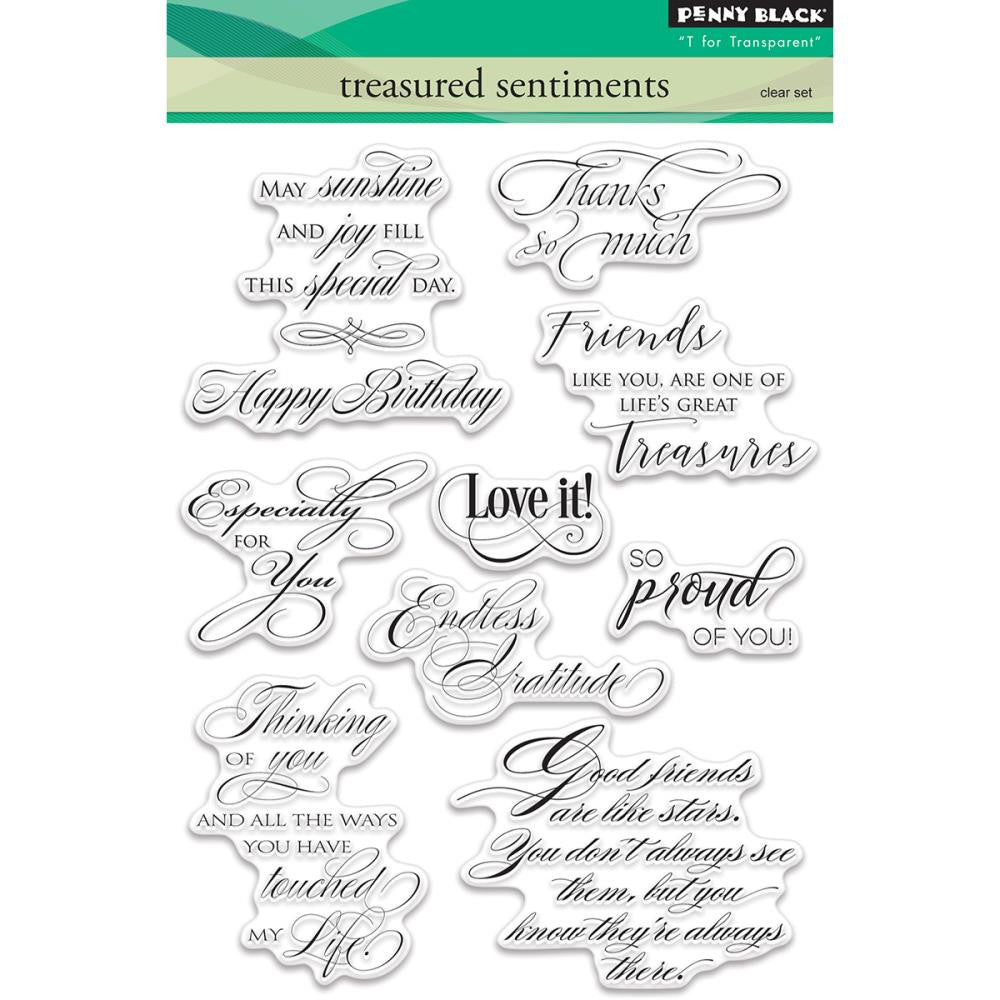 Penny Black Stamps - Treasured Sentiments