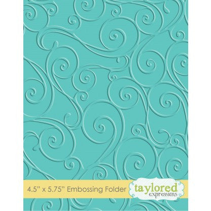 Taylored Expressions Embossing Folder - Twirls and Swirls