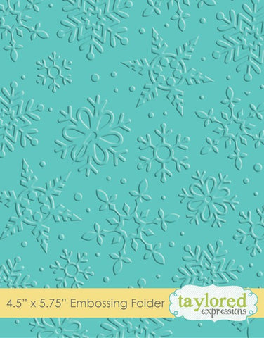 Taylored Expressions Embossing Folder - Winter Flurry